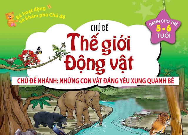Giáo án mầm non 5 tuổi - Chủ đề: Thế giới động vật