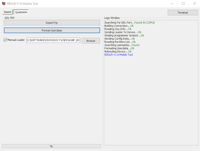 reset pola vivo y53 dengan rbsoft tool