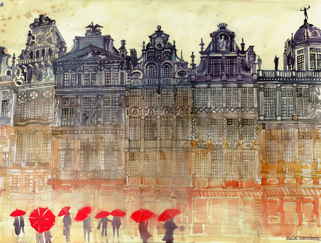 03-Brussels-Maja-Wronska-Travels-Architecture-Paintings-www-designstack-co