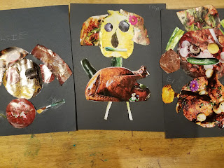 Arcimboldo Art Project made with recycled magazines