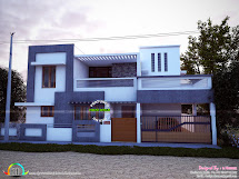 East Facing Simple Modern Home - Kerala Design And