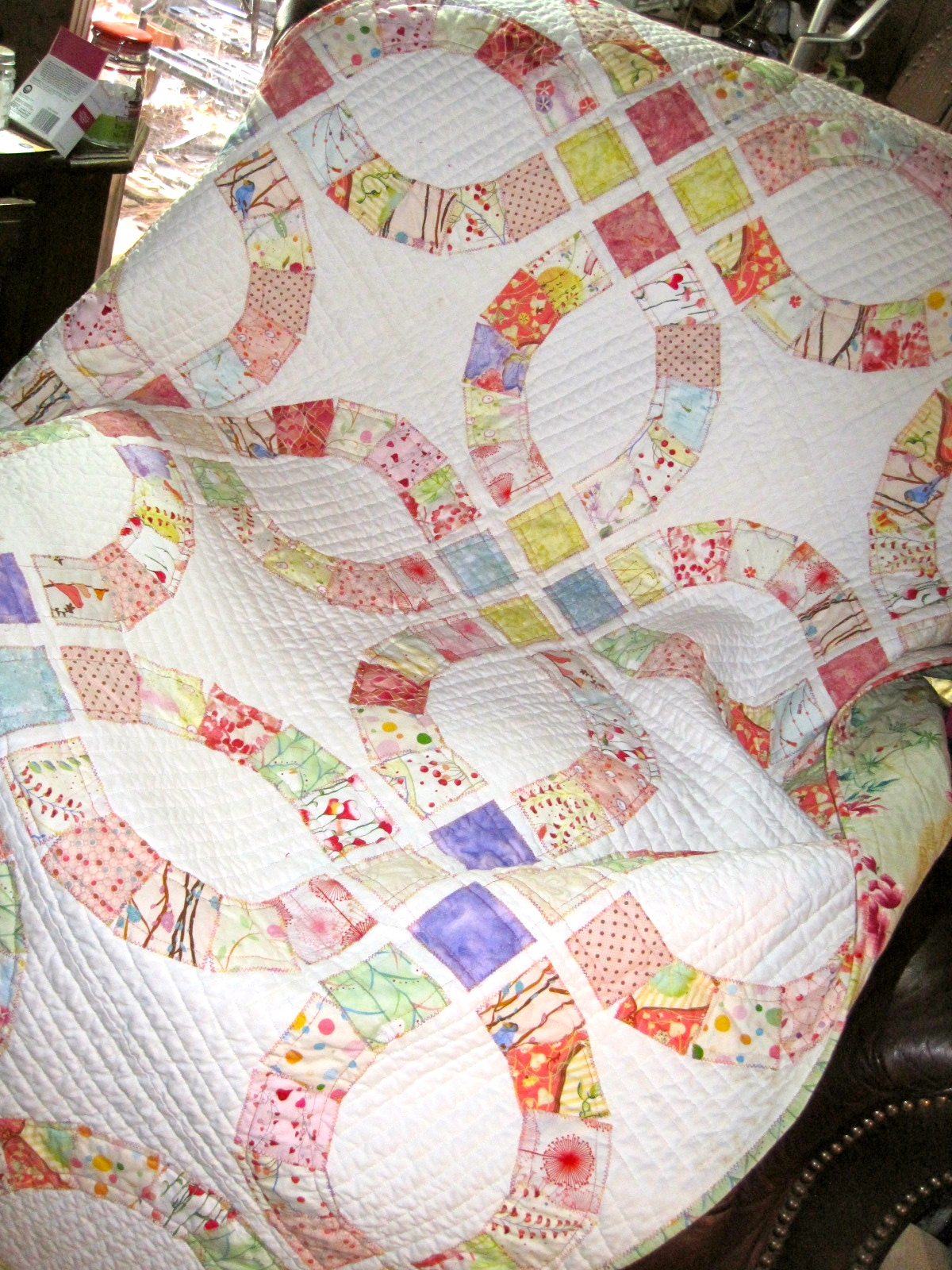 Quilt Inspiration Double Wedding Rings Part 4 Collaged