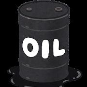 ドラム缶に入った石油のイラスト