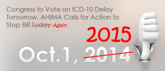 ICD-10 delay news confirmed! Medicare SGR Fix Bill 2014