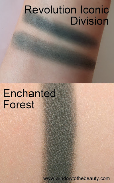 Makeup Geek Enchanted Forest dupes swatches