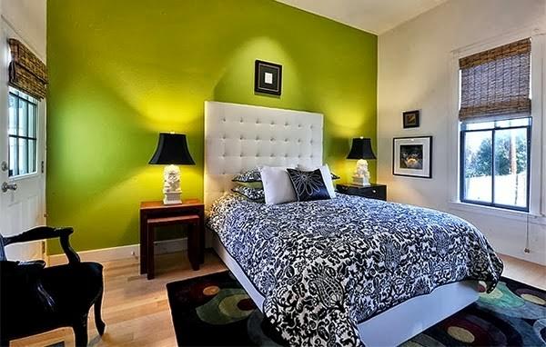 warna cat kamar tidur hijau terang 6