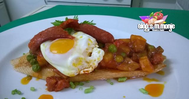Tosta de Huevos Flamenca