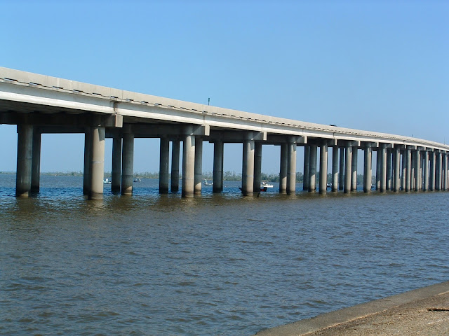 Manchac Swamp Bridge-jembatan terpanjang di dunia