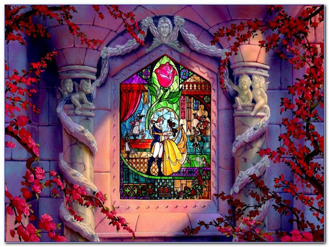 Beauty And The Beast Stained GLASS WINDOW Film