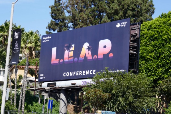 LEAP Conference 2018 billboard