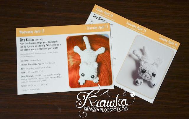 Krawka in crochet calendar.