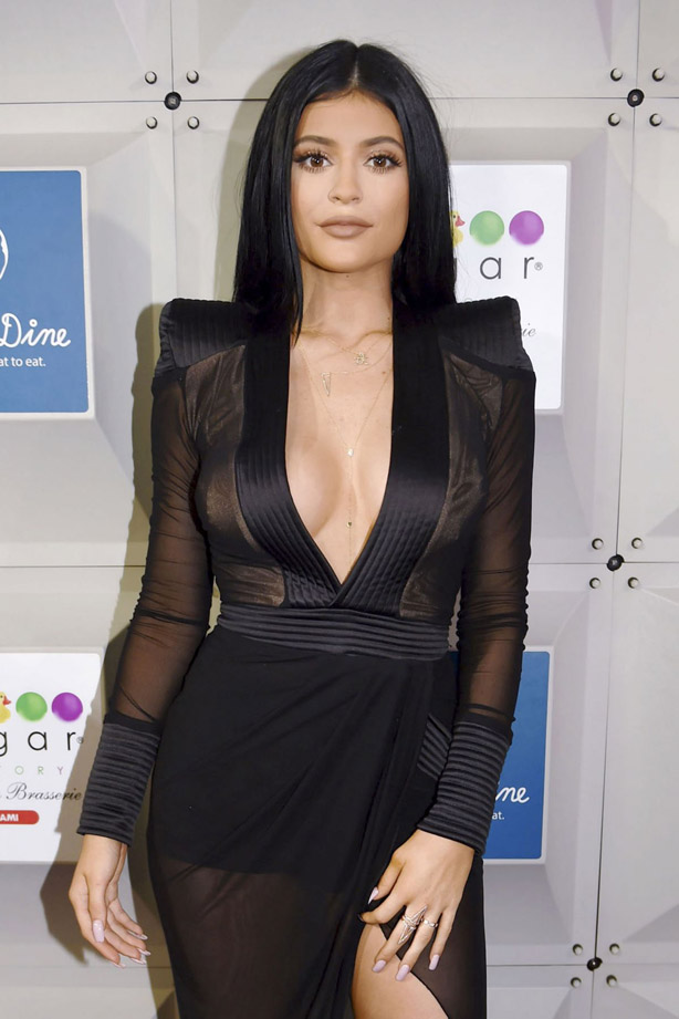 Boobs show too exaggerated? Kylie Jenner with mega cleavage