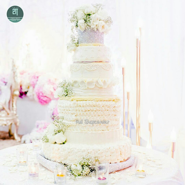 fresh flower wedding cake design