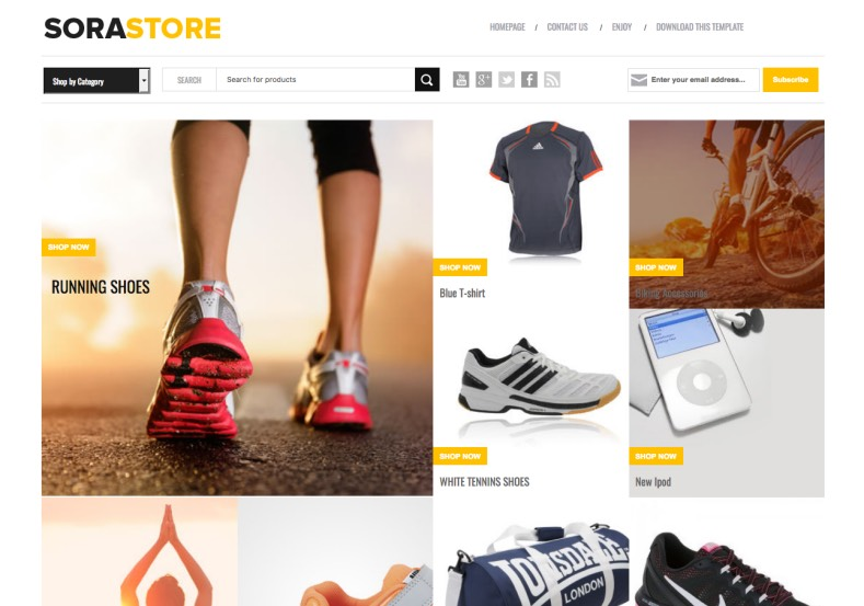 Sora Store Free Ecommerce Blogger Template