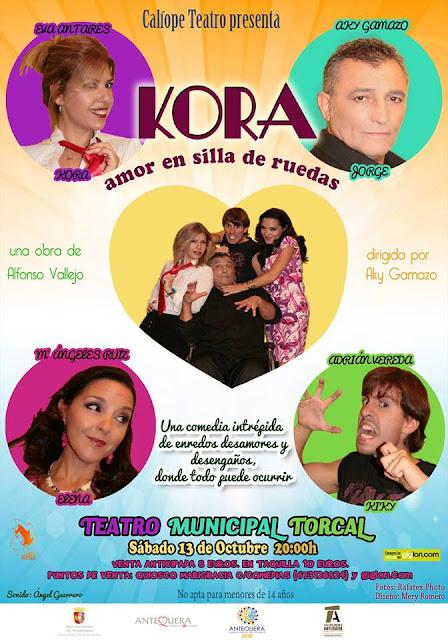 """Teatro """"Kora. Amor en silla de ruedas"""" en Antequera"""