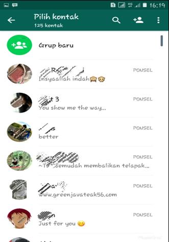 Daftar Kontak di Whatsapp