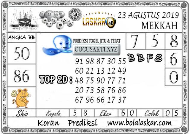 Prediksi Togel MEKKAH LASKAR4D 23 AGUSTUS 2019