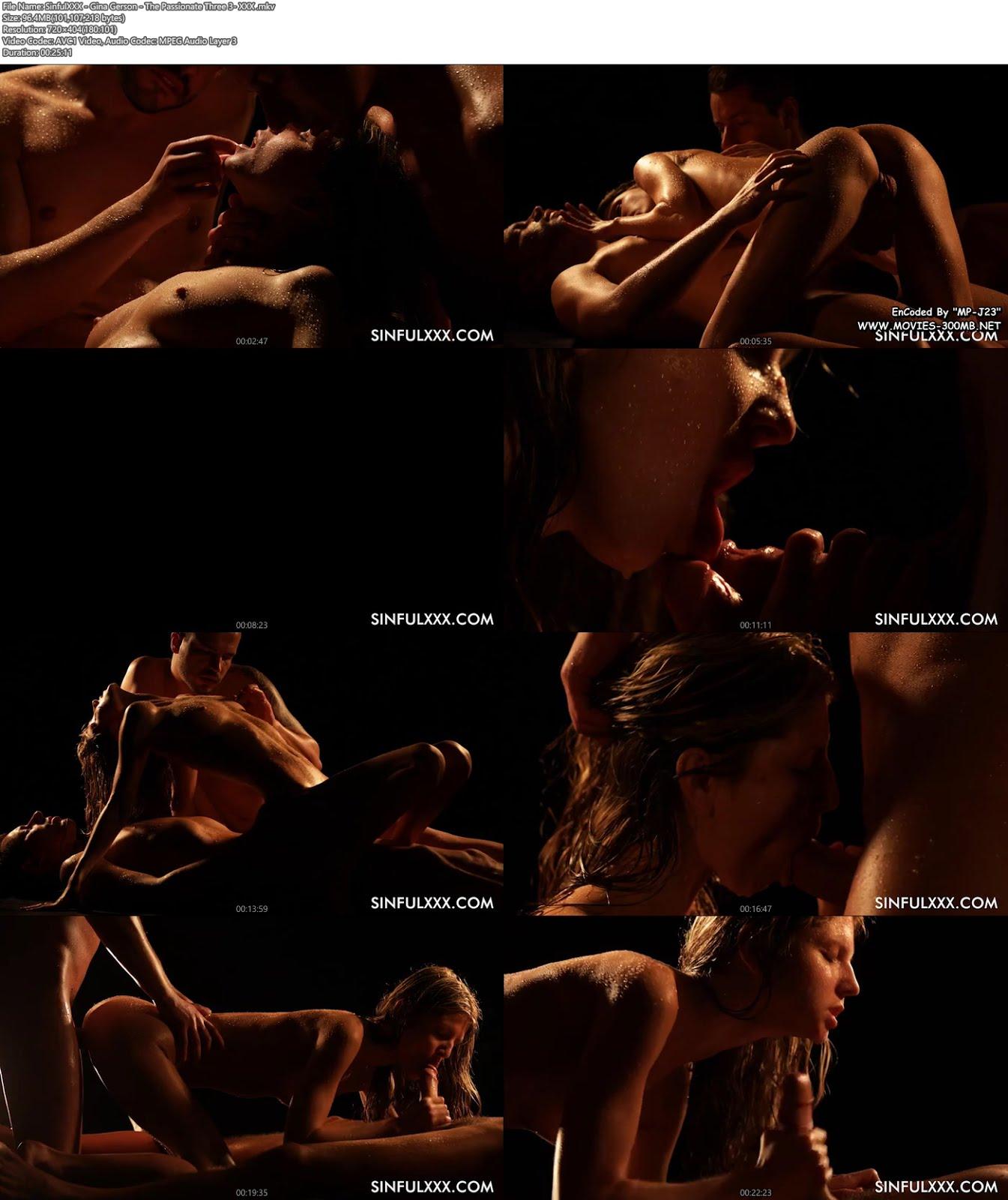 [18+] SinfulXXX - Gina Gerson - The Passionate Three 3- XXXMovies 2017 100MB Porn Videos Screenshot