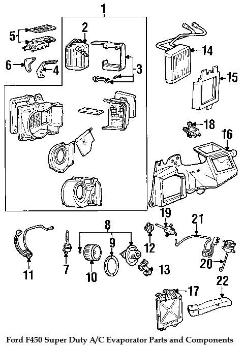 component diagrams ford f450 2006 super duty evaporator. Black Bedroom Furniture Sets. Home Design Ideas