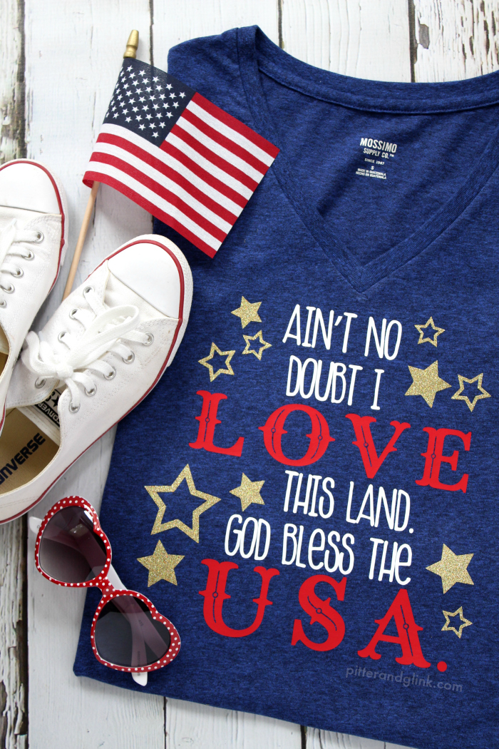 DIY Fourth of July T-shirt + Free Cut File | pitterandglink.com