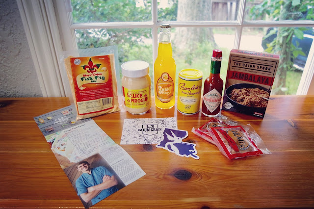 An array of delectable Louisiana products in the August Cajun Crate.