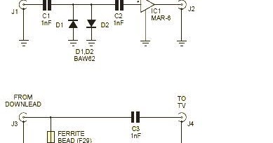 Simple RF amplifier using VHF and UHF MAR 6 Wiring diagram