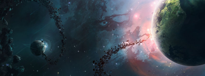 Nebula universe facebook cover Best Facebook Covers 1