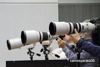 キヤノンの大砲レンズの写真