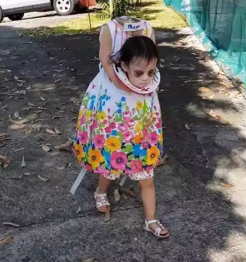 Meet the 2-year-old girl's who horrifyingly realistic headless costume, wins Halloween