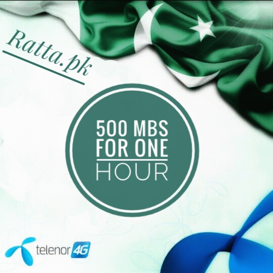 Telenor cheap 3G and 4G Internet offer 3500 Mbs