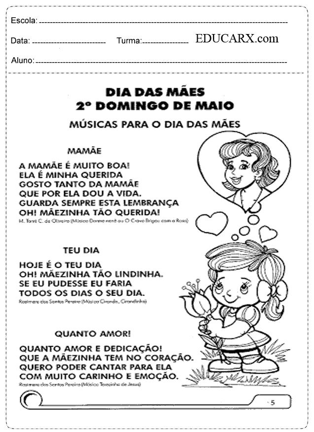 Educar X Atividades Dia Das Maes 4 Ano