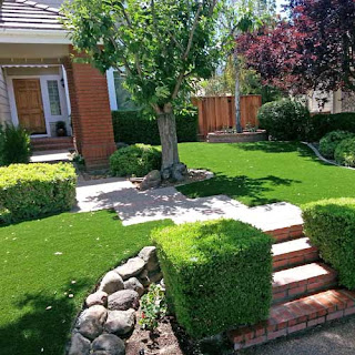 Greatmats artificial grass turf landscaping