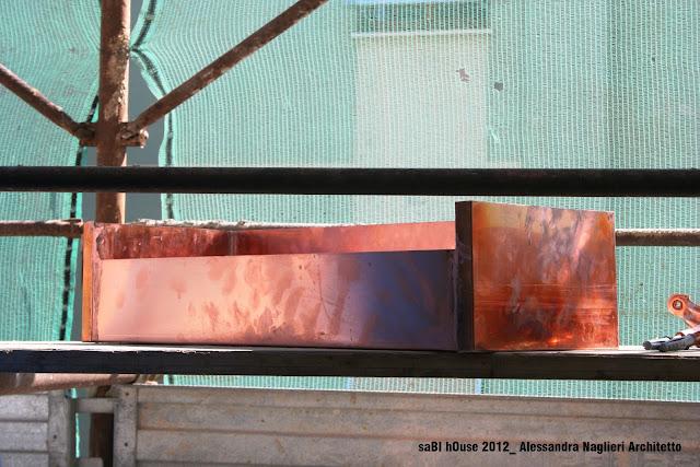 pluviale in rame copper drainpipe
