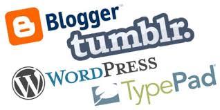 Writing a blog.