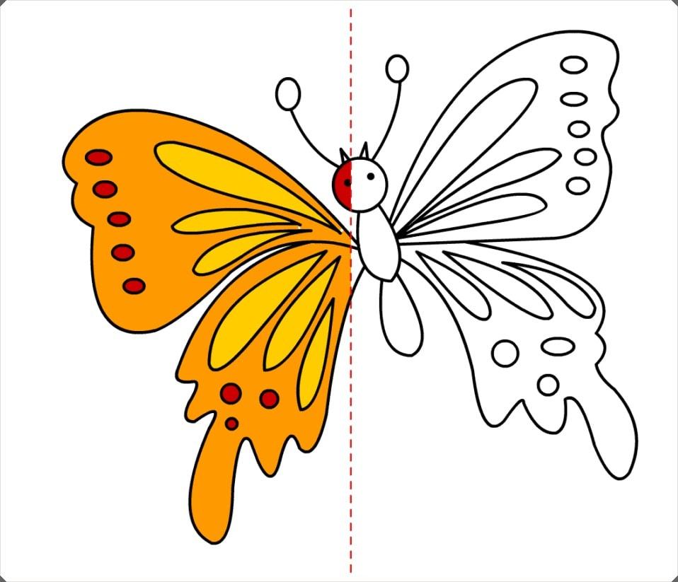 çeşitli Kelebek Boyama Resimleri