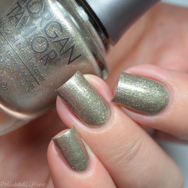 silver micro glitter nail polish