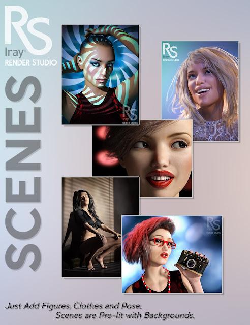 Render Studio Iray Scenes