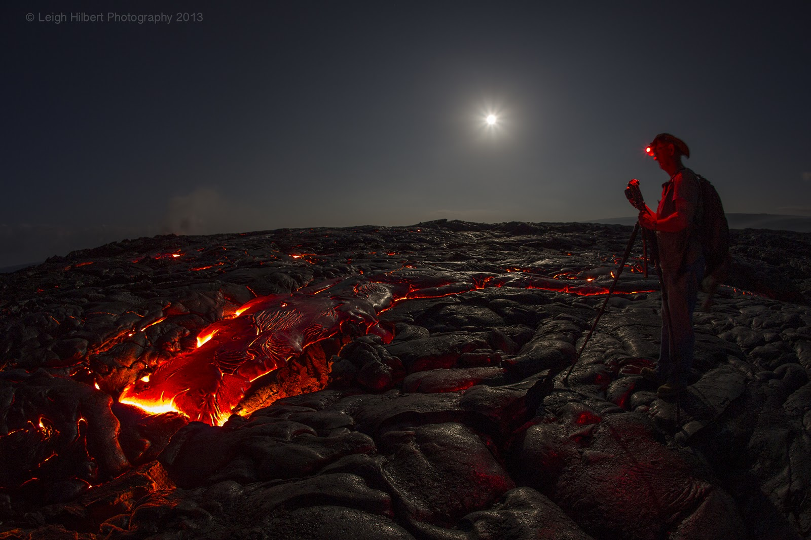 Hawaiian Lava Daily Hawaiian Molten Lava Continues From
