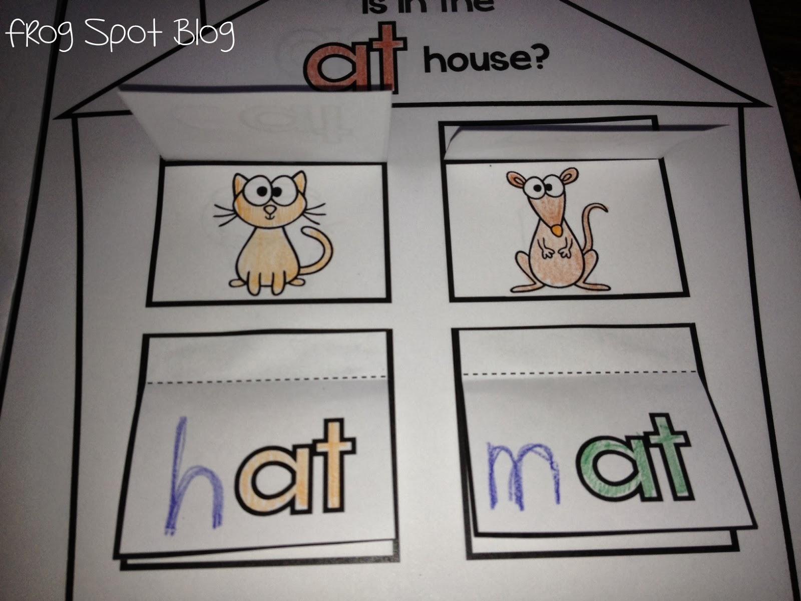 Word Family Flip Flap Houses