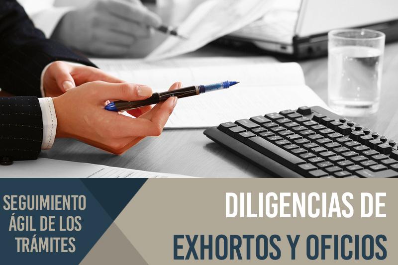 Diligenciamiento de exhortos, oficios y mandamientos