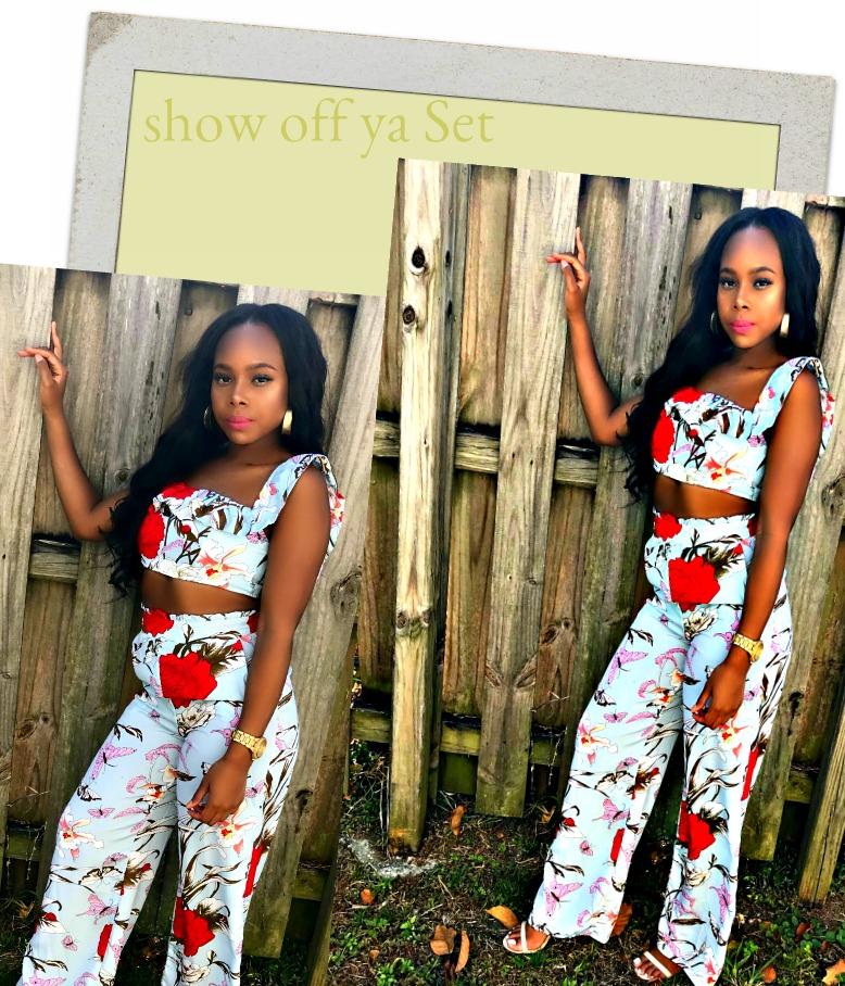 Monet Set/ Matching Set/ Boutique Sales Chic/ Fashion Trends/ Pants set