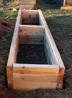 Assembly begun on the raised bed