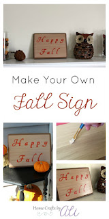 DIY Happy Fall Sign for Decor Piece