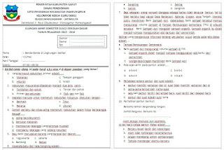 Kisi-kisi dan Soal UAS Tema 2 Semester 1 Kelas 4 Tahun Ajaran 2015-2016