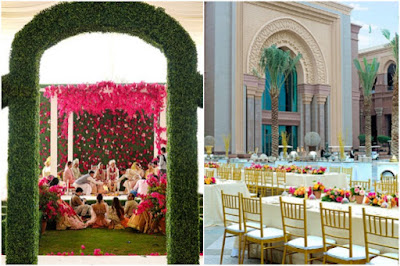 beautiful decor of The venue of Anushka Rajan Abhishek Doshi Wedding