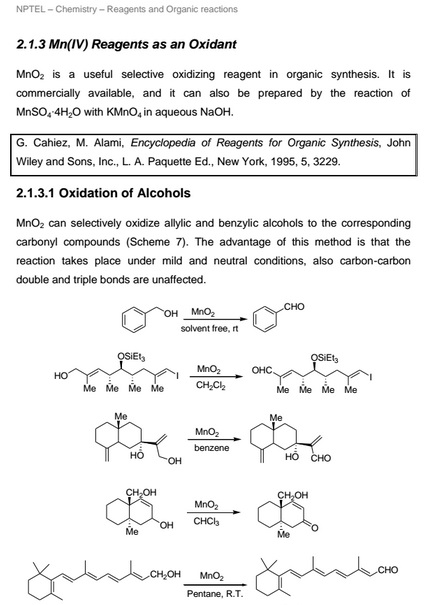 Reagents For Oxidation Reaction (Oxidising Reagents) - All