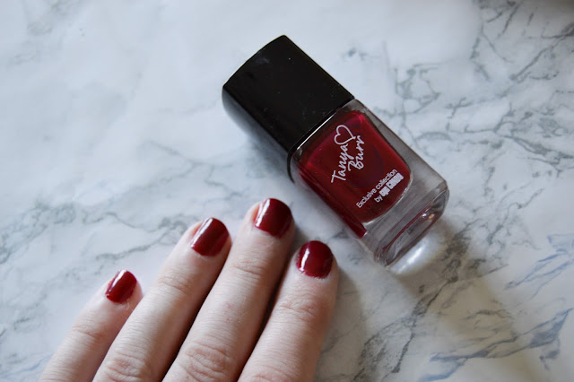 Tanya Burr Nail Polish in Riding Hood Review Swatch