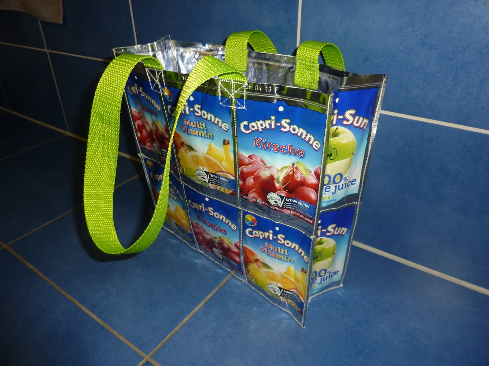 Upcycling Taschen Selber Machen Made By Vicky: Grosse Capri Sonne Tasche, Recycling