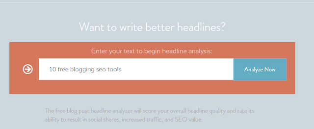 headline analyzer for capturing the right keywords