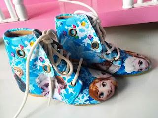 Sepatu Boot Frozen Anak Perempuan